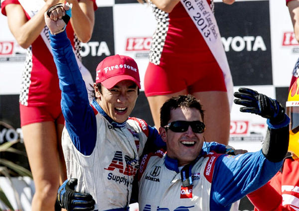 Takuma Sato won the Toyota Grand Prix of Long Beach on Sunday.
