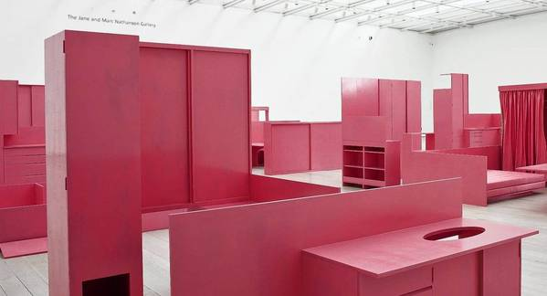 "Installation view of Stephen Prina's ""As He Remembered It,"" 2011, Los Angeles County Museum of Art."