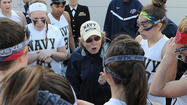 Senior attacker Jasmine DePompeo scored the game-winning goal 41 seconds into double overtime as No. 12 Navy captured the Patriot League regular-season title by defeating American, 11-10, in Washington Sunday afternoon.