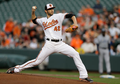 It has been a strange ride so far this season for the Orioles rotation. The starters have not been able to get deep enough into games and have not been particularly stingy in the earned run department, yet the overall results have been acceptable. The past week was just more of the same. The Orioles won both series, but the rotation averaged 5 1/3 innings per game and posted a combined 5.40 ERA. Jake Arrieta (pictured), in particular, was all over the place, winning the opener of the Rays series and reeling out of control to let a three-run lead get away on Sunday.  <br><br> <b>Grade</b>: C-