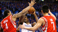 OKLAHOMA CITY -- James Harden told his teammates to expect it. He, more than anyone, knew what type of reception the Houston Rockets would get from the Oklahoma City Thunder fans. Their arena is regarded as one of the loudest arenas in the NBA. The former Thunder guard has seen what happens to opposing teams during the playoffs.
