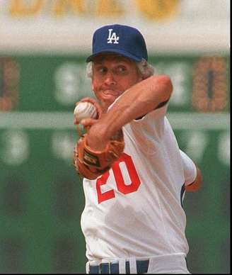 Don Sutton pitched for the Dodgers from 1966 to 1980 and again in 1988. He leads the team in wins (233), ga