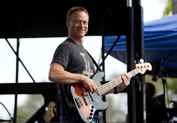Gary Sinise with his Lt. Dan Band plays in San Diego, California, October 22, 2012.