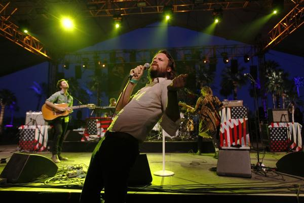 Father John Misty preaches at the Coachella Valley Music and Arts Festival