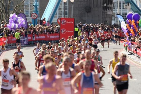 Runners compete in the 2013 London Marathon.
