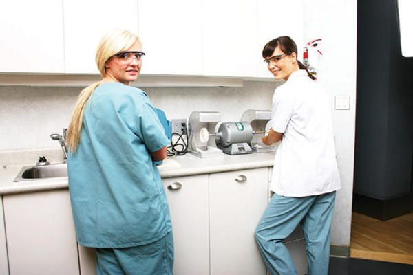 Duties of a dental lab technician change with their patients.