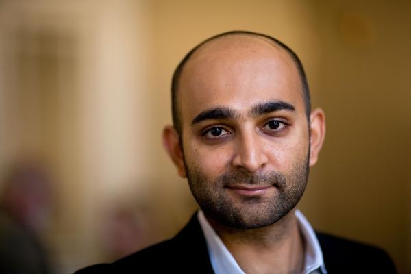 Author Mohsin Hamid will be doing a video chat Tuesday morning.