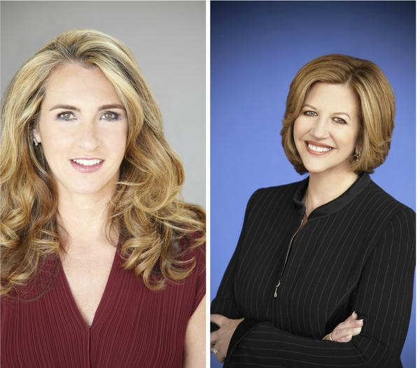 Nancy Dubuc, left, will succeed Abbe Raven as CEO of A E Networks. Raven will become chairman.