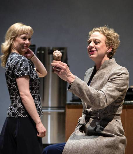 Mariann Mayberry (Herself) and Eva Barr (Alice) in Lookingglass Theatre Company's