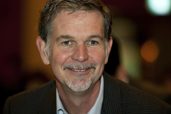 Netflix Chief Executive Reed Hastings is shown at a 2011 event in South Korea.