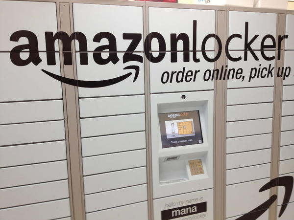 Lockers for Amazon are located in a 7-Eleven in Hoboken, New Jersey, as part of a pilot program to provide faster delivery to customers and give a more secure location than leaving on a doorway. Other retailers such as Wal-Mart are looking at the locker delivery system as well.