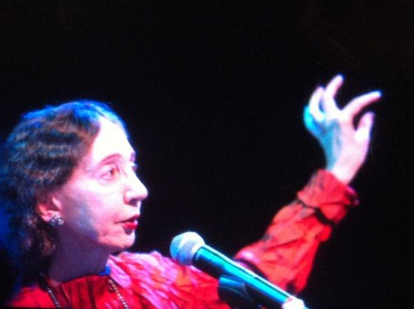"""""""Writing is very intuitive and you can't quite force it,"""" Joyce Carol Oates said Sunday at the Festival of Books, referring to her latest novel, """"The Accursed,"""" which she began in 1984."""