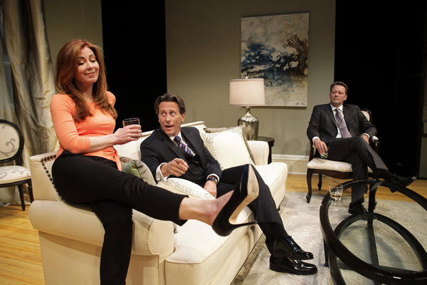 "Dana Delany, Steven Weber and Steven Culp in South Coast Repertory's 2013 world premiere production of ""The Parisian Woman"" by Beau Williimon."