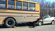 "Alaska State Troopers say <a href=""http://www.ktuu.com/news/valleybureau/three-people-injured-in-knik-goose-bay-road-school-bus-crash-041813,0,423379.story"">a school bus that was struck in a Mat-Su Valley crash Thursday afternoon,</a> injuring six people including five children, had its lights flashing and its stop sign deployed when it was rear-ended."