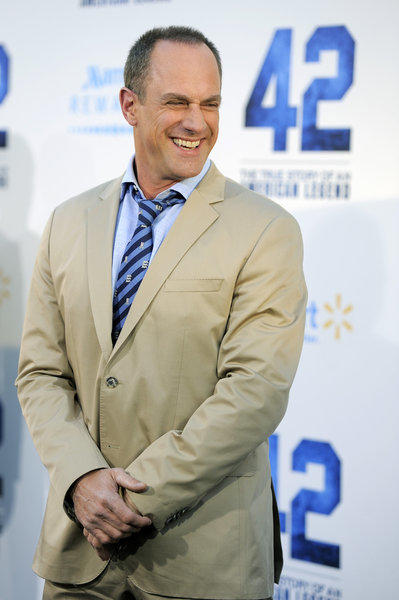 "Christopher Meloni of ""42"" attends the Los Angeles premiere of the film at the TCL Chinese Theater on  April 9."