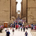 Luxor's Temple of Amun is filled with cruise-ship travelers side-tripping in from Red Sea ports.