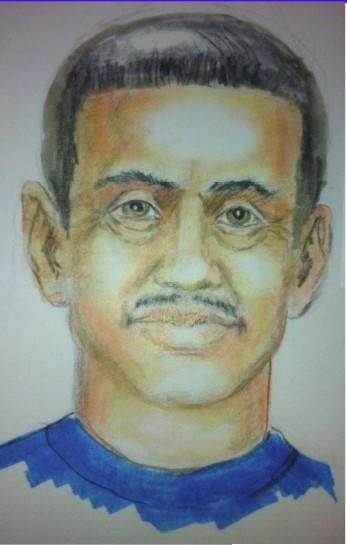 Sketch of man Redlands police say followed an 11-year-old girl.