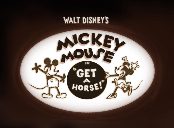 "The Mickey Mouse short film ""Get a Horse"""