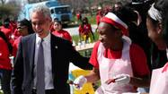 Mayor Rahm Emanuel on Monday announced his latest partnership with Coca-Cola: The soft drink giant will pay for 50,000 blue recycling carts for Chicago homes and in return gets to put images of Coke products on the lids of the familiar bins.