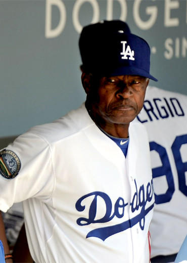 Manny Mota started his coaching career with the Dodgers in 1980.