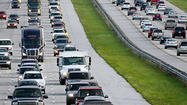 Northbound Interstate 95 is closed near Melbourne because power lines are down across the roadway, the Florida Highway Patrol said.