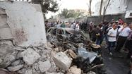 CAIRO -- A car bomb exploded at the French Embassy in Tripoli, Libya, on Tuesday, injuring three people and raising the specter that Islamist militants were seeking retribution for France's military strikes against extremists in the West African nation of Mali.