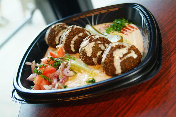 Falafels and other lunch dishes are buy-one-get-one-free today at I Dream of Falafel.