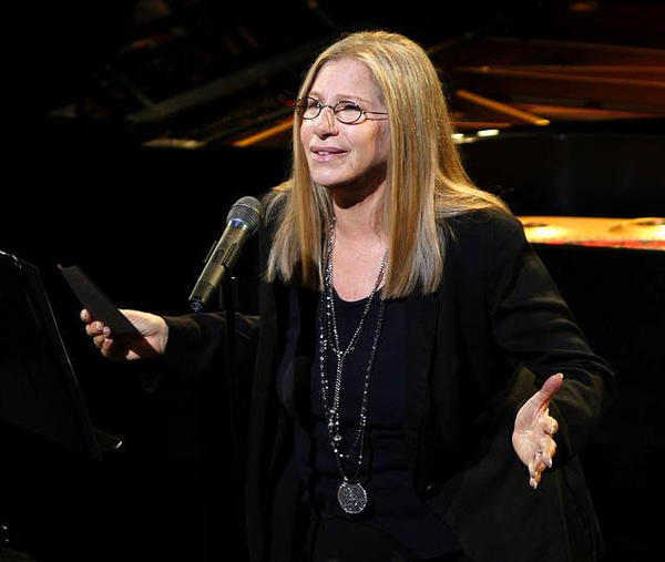 Barbra Streisand at Lincoln Center's Avery Fisher Hall, receiving the Film Society of Lincoln Center's Chaplin Award