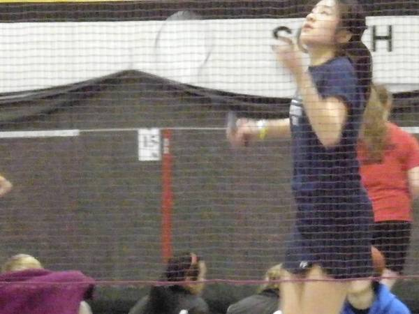 Senior Audrey Mang is a leader on the NEw Trier Badminton team