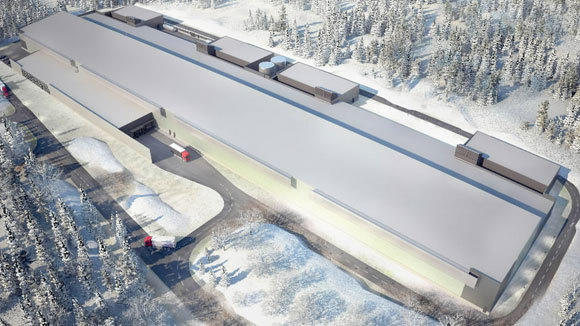 A rendering of the Facebook data center in Lulea, Sweden.