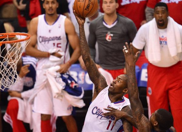 Jamal Crawford drives to the basket in Game 2