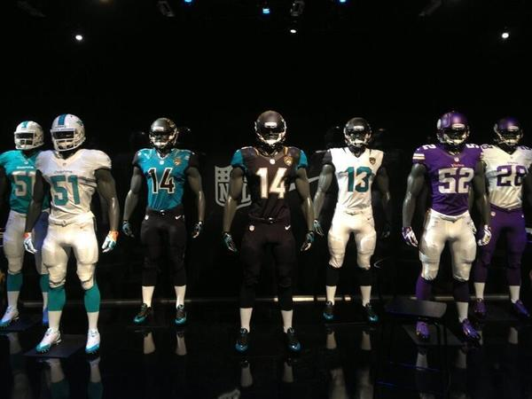 A leaked photo of the new NFL uniforms, including the Dolphins' new gear.