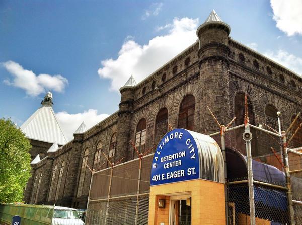 Outside the Baltimore City Detention Center