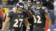 Ray Rice was one of three Ravens who took a break from the team's offseason workout program Tuesday to chat with reporters. He appeared to be wearing black pajama pants, so maybe a nap was next on his agenda.