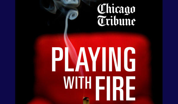 Playing With Fire ebook cover. Tribune illustration