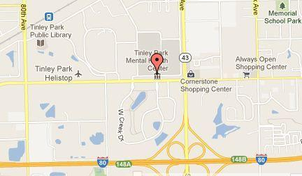 Map of the former Tinley Park Mental Health Center.