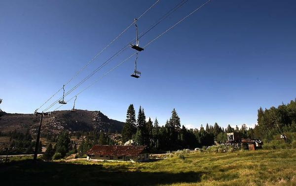The lifts at June Mountain last summer. The resort will reopen in December.