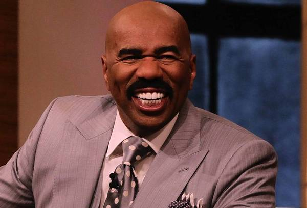 "Steve Harvey, host of his show ""Steve Harvey,"" talks to the audience during the taping of the show on Tuesday."