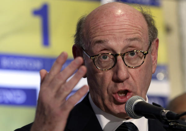 Kenneth Feinberg, an attorney who managed the 9/11 Victim Compensation Fund, speaks during a news conference in Boston on Tuesday. Feinberg will design and be administrator of a new fund to help people affected by the Boston Marathon bombing.