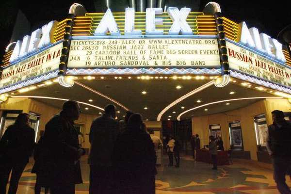 "Guests arrive at the Alex Theatre to watch the ""Territory of Jazz"" performance at the Alex Theatre in December."