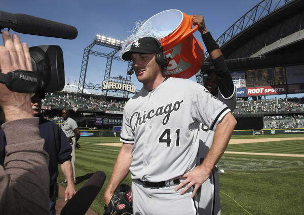 As you would expect, Philip Humber's perfect game for the Sox in 2012 came with an ice water shower.