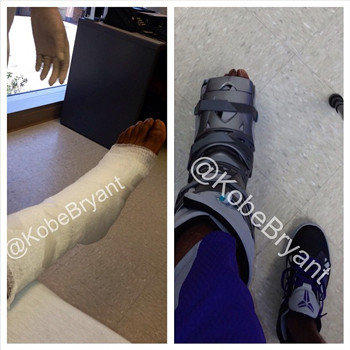 Kobe Bryant Posted This Split Image On Instagram Showing His Foot He Will Wear The