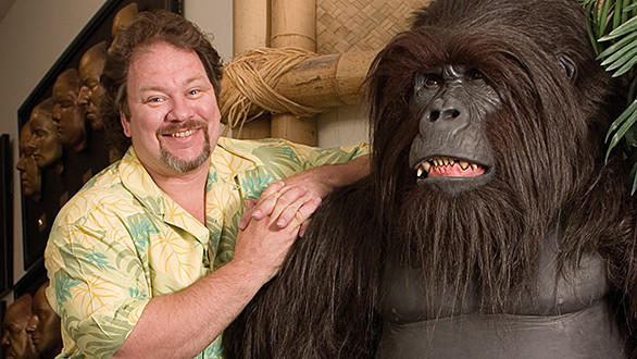 Garner Holt, founder and president of Garner Holt Productions, with an animatronic gorilla.