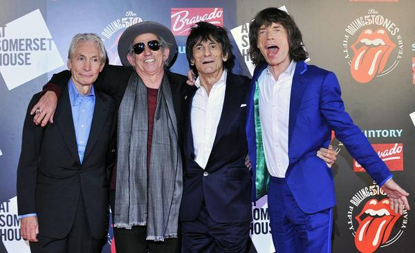 The Rolling Stones, from left to right, Charlie Watts, Keith Richards, Ronnie Wood and Mick Jagger, in London recently.