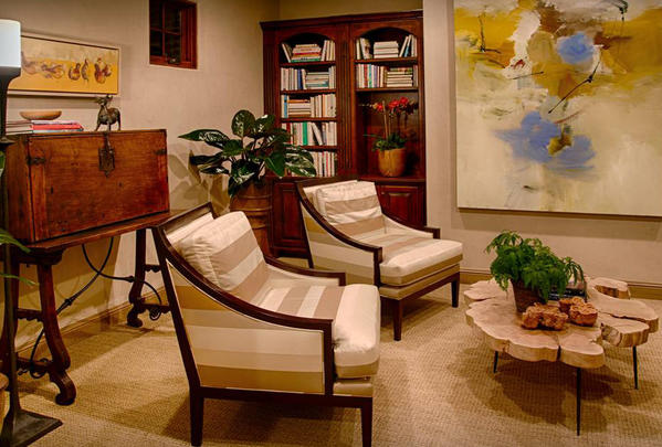 The library that Laguna Beach designer Gary Finley worked on for the Philharmonic Society of Orange County House of Design.