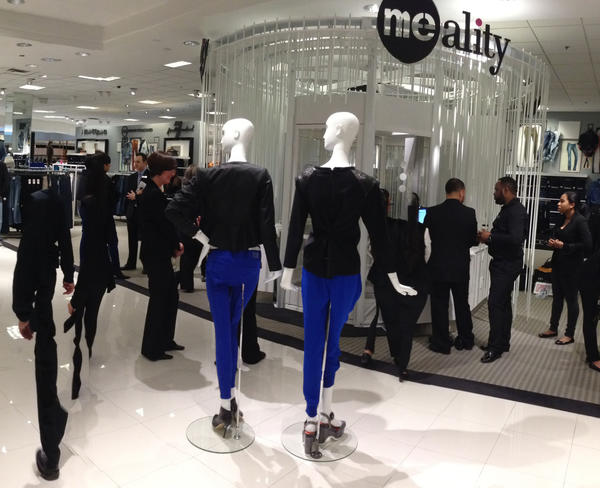 Me-Ality, seen here at a New York Bloomingdale's. The technology matches shoppers with their best fits for denim. It's available at the South Coast Plaza Bloomingdale's.