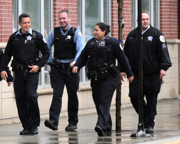 Chicago police leave Kennedy-King College after a lockdown. The college went on lockdown after a report of a man with a gun at the South Side school.
