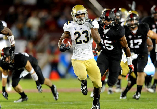 UCLA running back Jonathan Franklin beats the Stanford defense for a 51-yard touchdown.