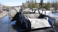 Occupants Escape Burning Pickup in Parks Highway Crash