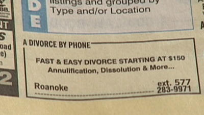 A Franklin County man warns don't get suckered by online divorce company